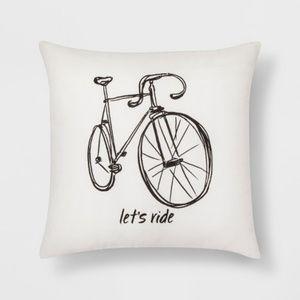 """Target """"Let's Ride"""" Bike Throw Pillow"""